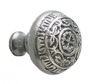 Ivy Leaf Large Cabinet Knob, Antique Nickel