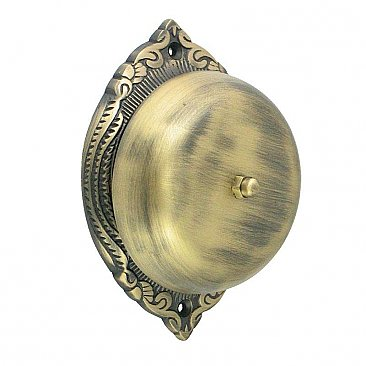 Emerson Rotary Doorbell, Antique Brass