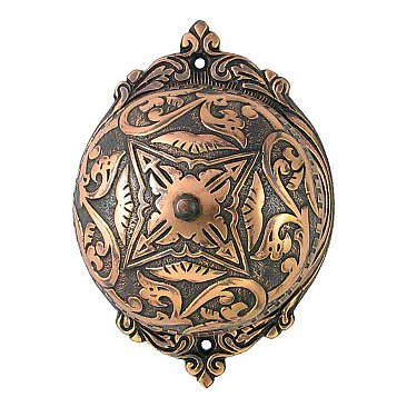 Sarah Rotary Doorbell, Antique Copper