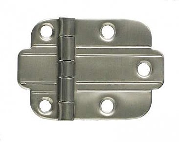 Art Deco Flush Cabinet Hinge, Brushed Nickel