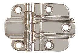Art Deco Offset Cabinet Hinge, Polished Nickel