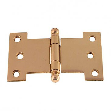 "4"" Wide Parliament Hinge - Polished Brass"