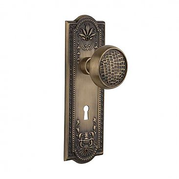 Complete Door Set - Featuring Meadows Plate with Craftsman Knob