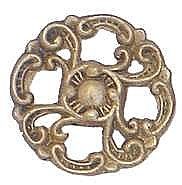 Brass Scroll Knob, Small