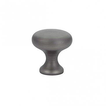 "Providence Solid Brass Cabinet Knob - 1"" - Pewter"