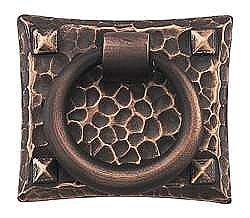 Hammered Ring Pull - Oil Rubbed Bronze