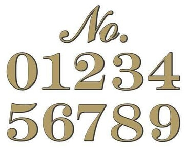 "Classic Gold Foil Adhesive House Number - 6"" High - Sold Each"