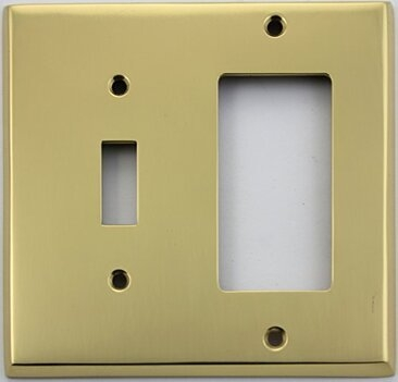 Polished Forged Brass Toggle / GFCI Switchplate