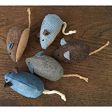 Repurposed Fabric Mouse Cat Toy
