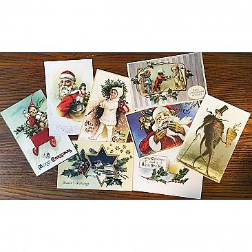 Vintage Holiday Postcards - Set of 8 - Reprints