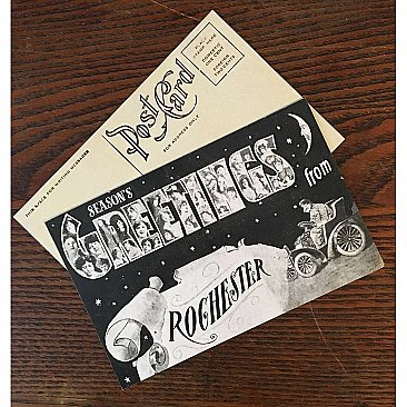 Vintage Holiday Postcard - Season's Greetings from Rochester - Reprint