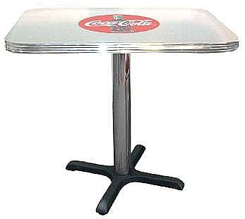 "Table: 24"" x 42"" Rectangular ""Coca Cola"" table"