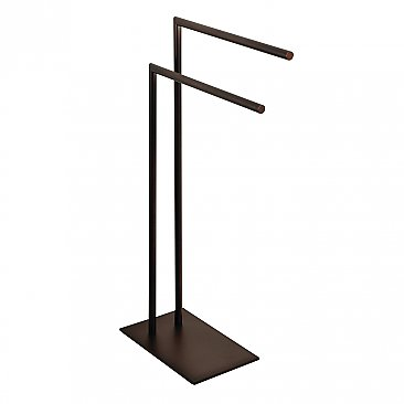 Kingston Brass Edenscape Pedestal Dual Towel Rack - Oil Rubbed Bronze