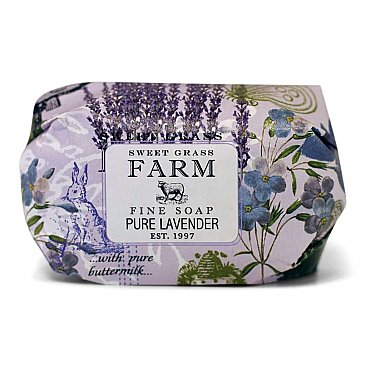 Sweet Grass Farms Meadow Triple Milled Bar Soap - Pure Lavender