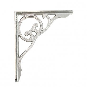 Shelf Bracket - Silver Finish - Sold Each