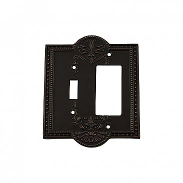 Solid Brass Meadows Switchplate - Timeless Bronze - GFCI/Toggle