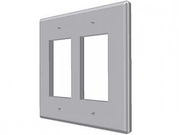 Ceramic Double GFCI Switchplate- Many Glazes Available