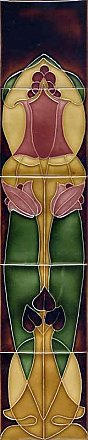 Art Nouveau Tile Set, Flower