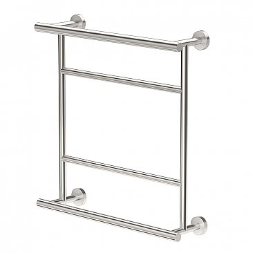 Glam Hotel Towel Rack - Satin Nickel