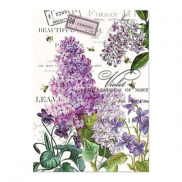 Michel Design Works Lilacs & Violets Kitchen Towel