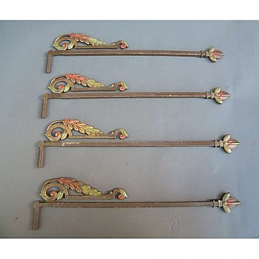 Set of 4 Antique Decorative Rods