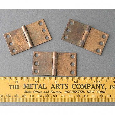 Antique Incomplete Cabinet Hinges
