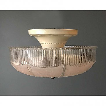 Antique Flush Mount Porcelain Light Fixture