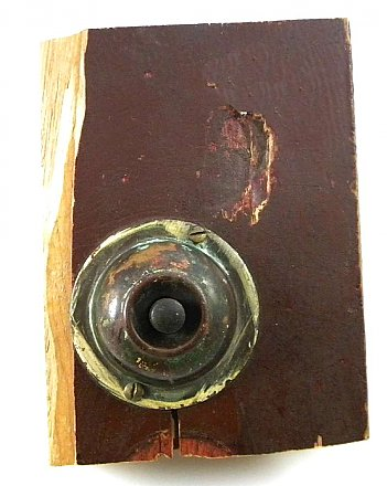 Antique Mechanical or Rotary Door Bell and Push Button By Sargent, Circa 1885
