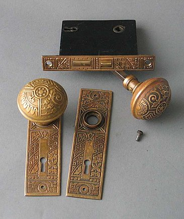 "Antique Bronze ""Ceylon ""Design Door  Set"