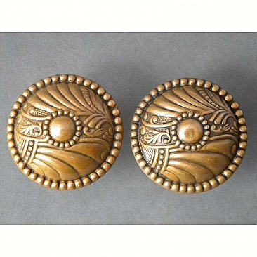 "Antique ""Roanoke"" Bronze Door Knob Pairs"