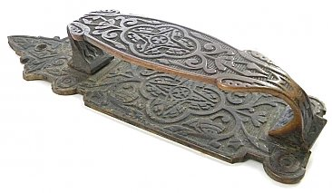 Antique Single Aesthetic Cast Brass Door Pull