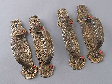 Antique Set of Double Door Pulls