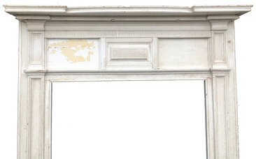 Antique Greek Revival Style Painted Fireplace Mantel - Circa 1840