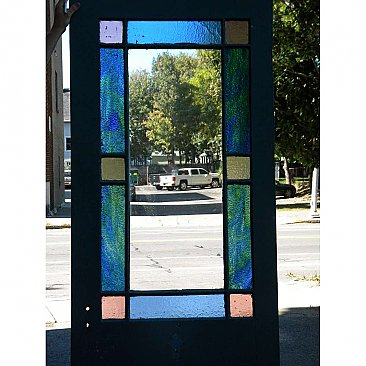 Antique Stained Glass Exterior Door