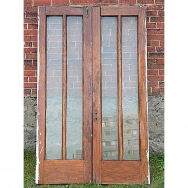Antique Oak French Doors