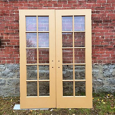 Vintage Painted French Doors