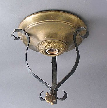 Brass & Iron Flush Mount Fixture