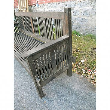 Antique Mission Style Bench