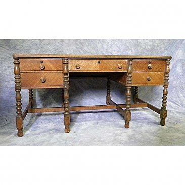 Antique Five Drawer Desk
