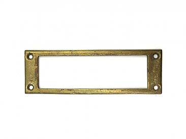 Antique Cast Brass Mail or Letter Slot Backplate