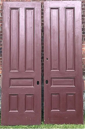 Pair of Antique Pine Pocket Doors