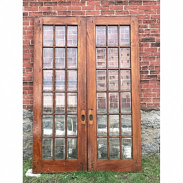 Antique Quartersawn Oak Pocket Door Pair