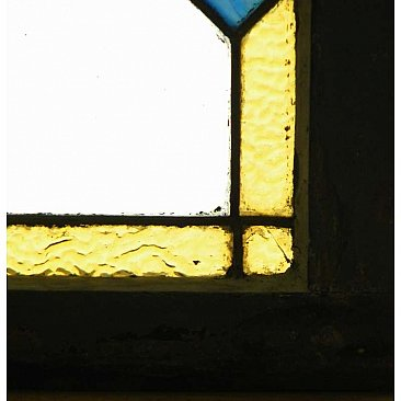 Antique Stained and Leaded Glass Window
