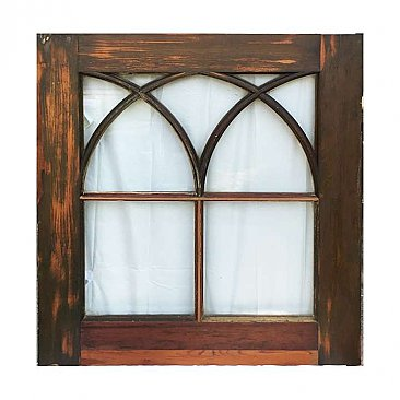 Circa 1870 Antique Queen Anne Glass Window