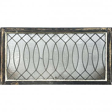 Antique Leaded Textured Colonial Revival Glass Window Circa 1900