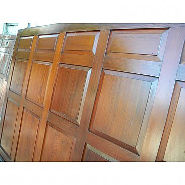 Set of Large Antique Fir Wood Paneling