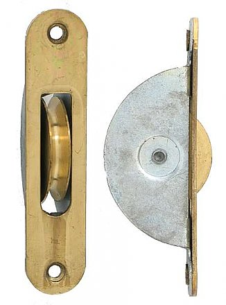 Brass Window Sash Pulley - Round Ends