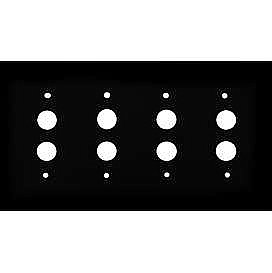 Oil Rubbed Bronze Forged Quad Pushbutton Switchplate