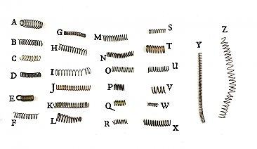 Unbranded Antique Mortise Lock Parts - Coil Springs