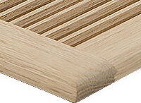 "White Oak Wood Surface Supply Surface Supply Grille - 2-1/4"" x 10"""